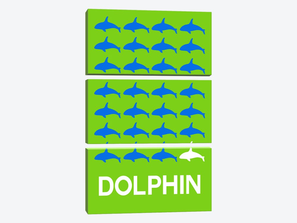 Dolphin Of Dolphins 3-piece Canvas Art Print