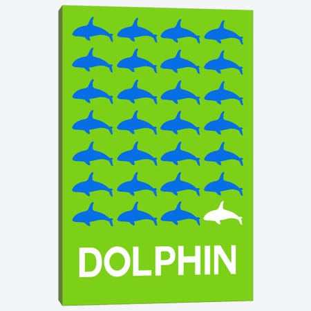 Dolphin Of Dolphins Canvas Print #NAX420} by Naxart Canvas Art Print