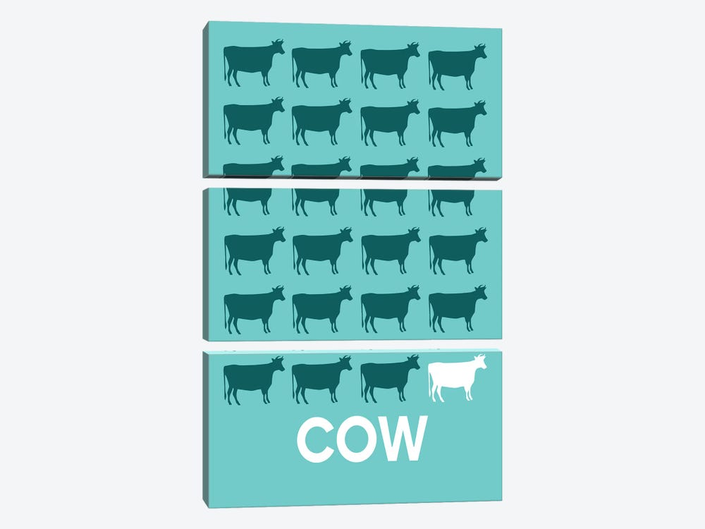 Cow Of Cows by Naxart 3-piece Canvas Art