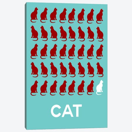 Cat Of Cats Canvas Print #NAX422} by Naxart Art Print
