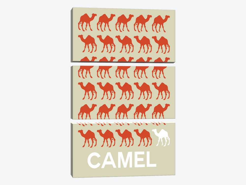 Camel Of Camels by Naxart 3-piece Canvas Print