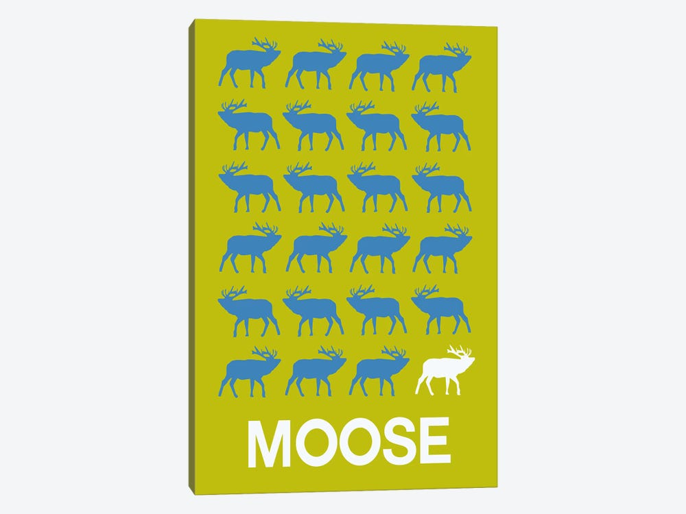 Moose Of Moose by Naxart 1-piece Canvas Art