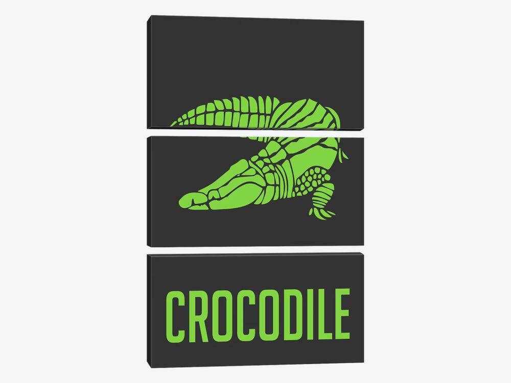 Crocodile II by Naxart 3-piece Canvas Art
