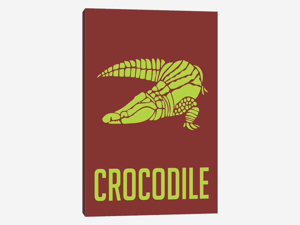 Crocodile III 1-piece Canvas Wall Art