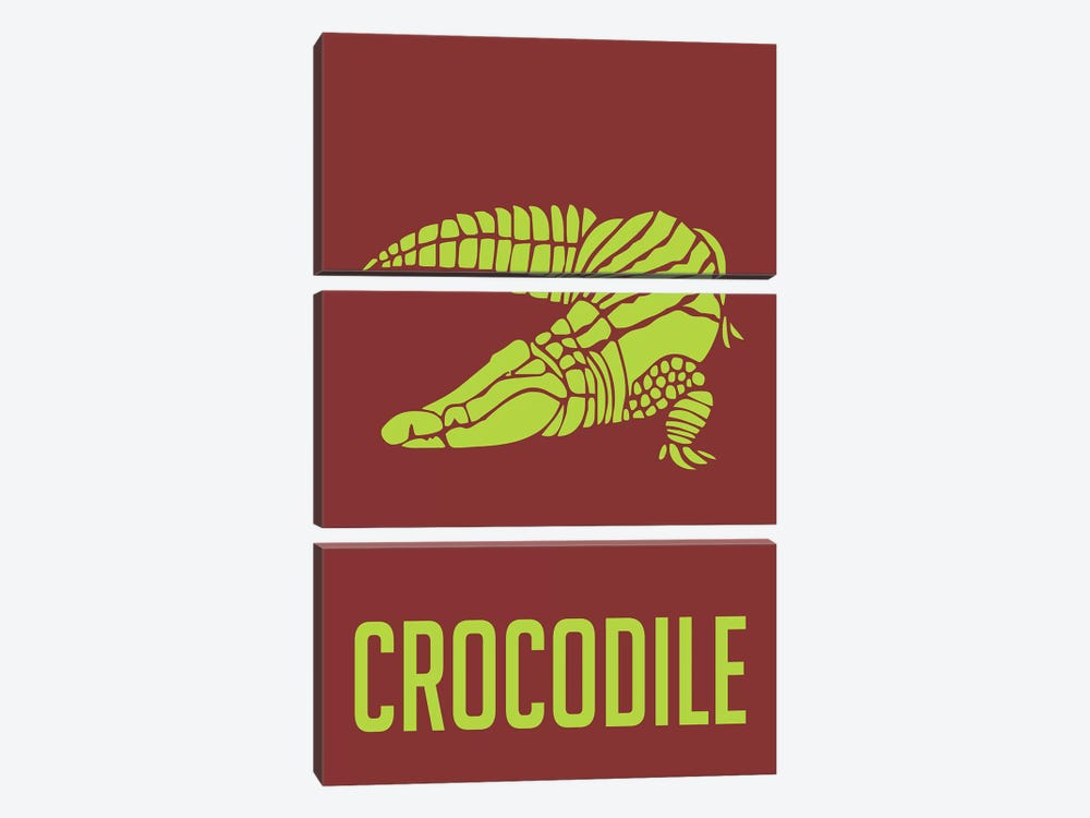 Crocodile III by Naxart 3-piece Canvas Art