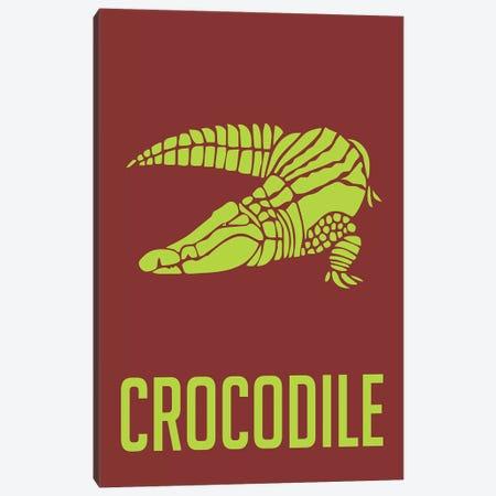 Crocodile III Canvas Print #NAX430} by Naxart Canvas Artwork