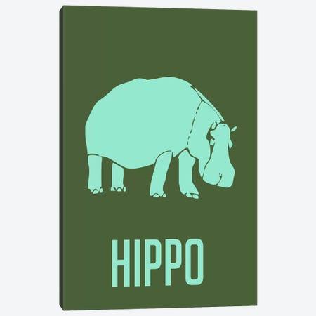 Hippo II Canvas Print #NAX431} by Naxart Canvas Wall Art