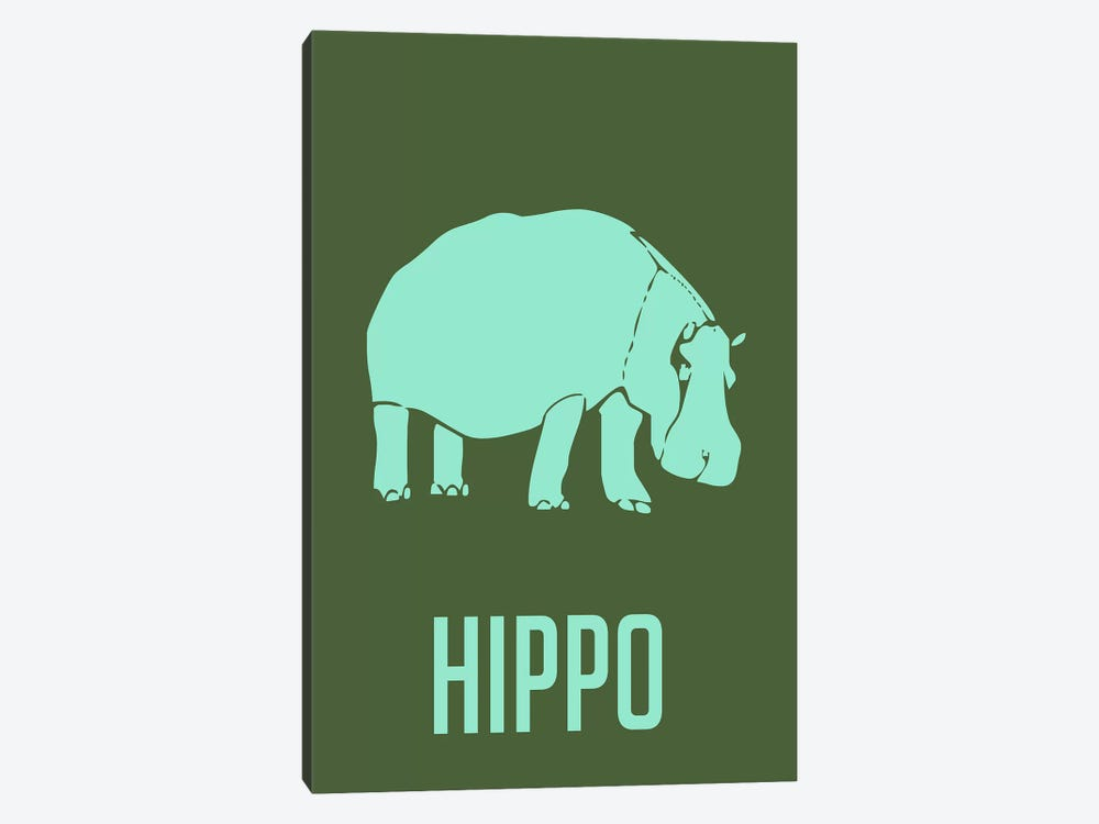 Hippo II by Naxart 1-piece Art Print