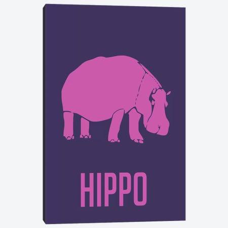 Hippo III Canvas Print #NAX432} by Naxart Canvas Wall Art