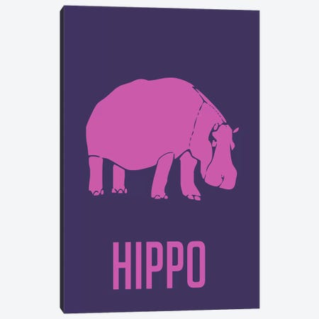 Hippo III Canvas Print #NAX432} by Naxart Canvas Wall Art
