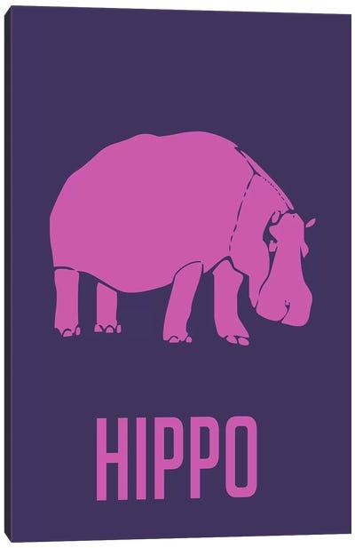 Hippo III Canvas Print #NAX432