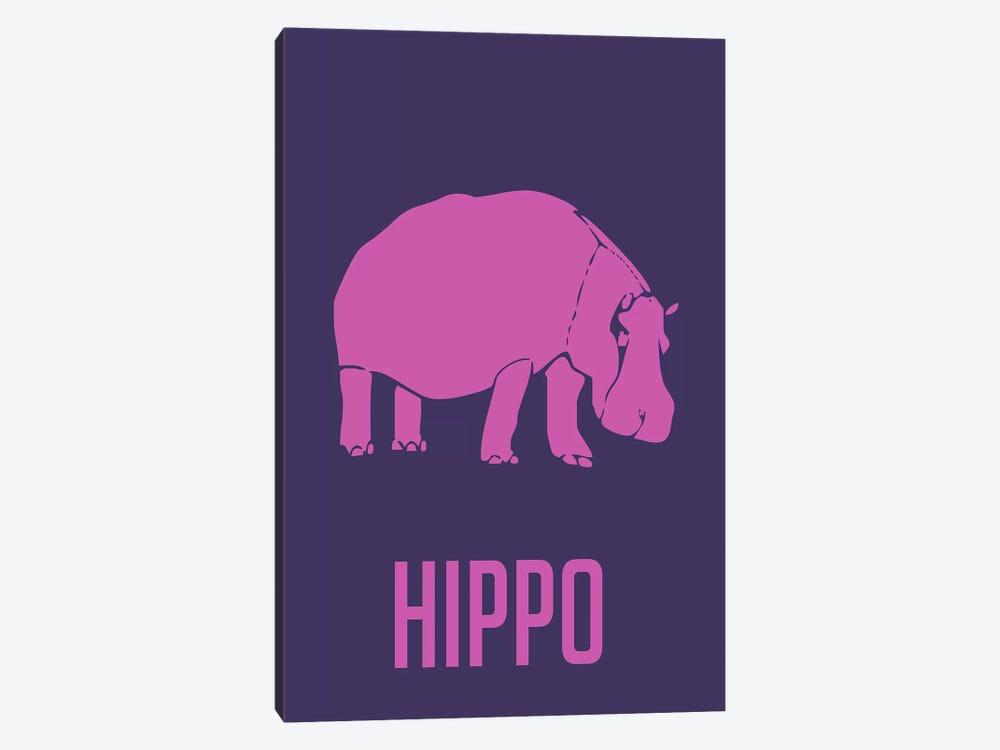 Hippo III by Naxart 1-piece Canvas Art
