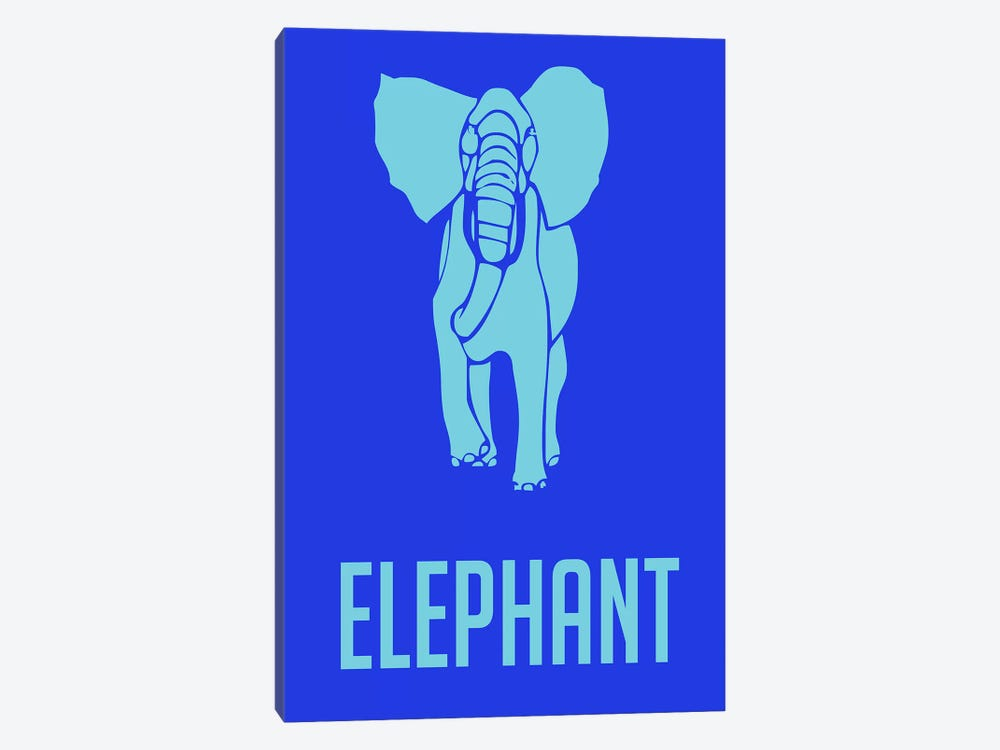 Elephant III by Naxart 1-piece Canvas Wall Art