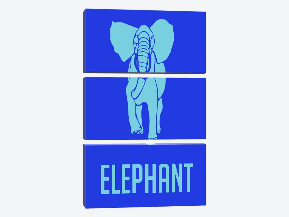 Elephant III by Naxart 3-piece Canvas Artwork