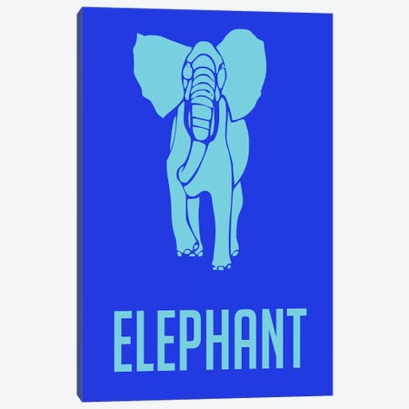 Elephant III Canvas Print #NAX434} by Naxart Canvas Art Print