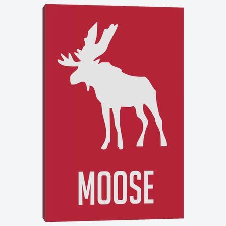 Moose II Canvas Print #NAX437} by Naxart Canvas Print