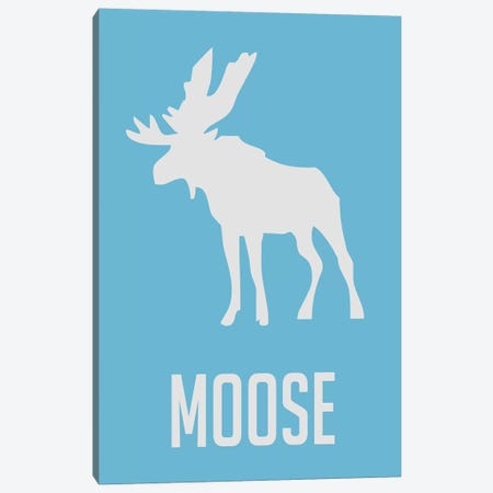 Moose III Canvas Print #NAX438} by Naxart Canvas Wall Art