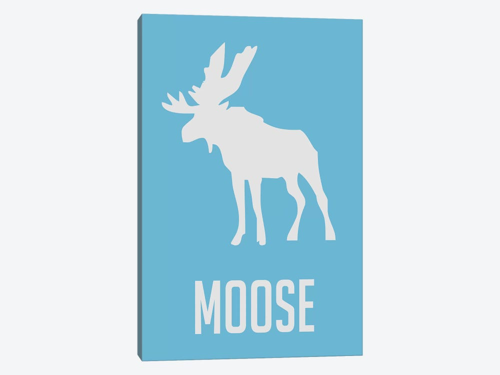 Moose III by Naxart 1-piece Canvas Artwork