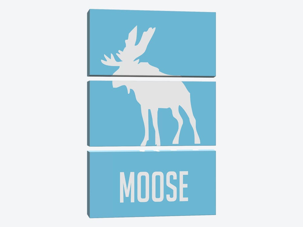 Moose III by Naxart 3-piece Canvas Artwork