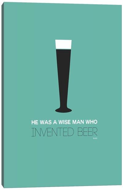 Plato's Take On Beer I Canvas Print #NAX439