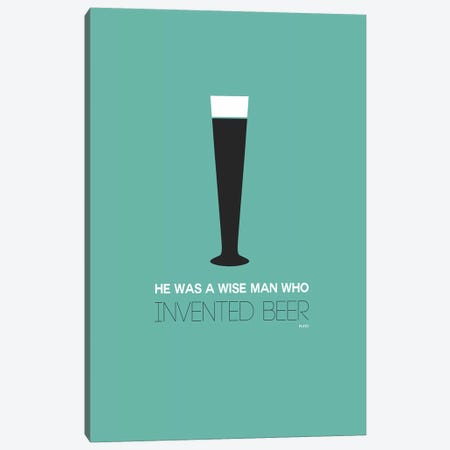 Plato's Take On Beer I Canvas Print #NAX439} by Naxart Canvas Artwork