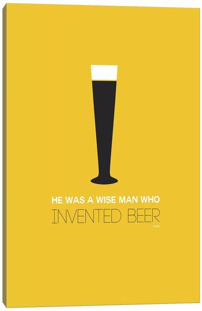 Plato's Take On Beer II Canvas Print #NAX440