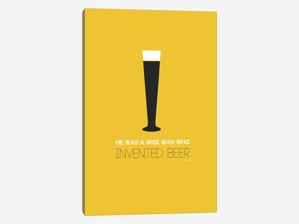 Plato's Take On Beer II by Naxart 1-piece Canvas Art Print