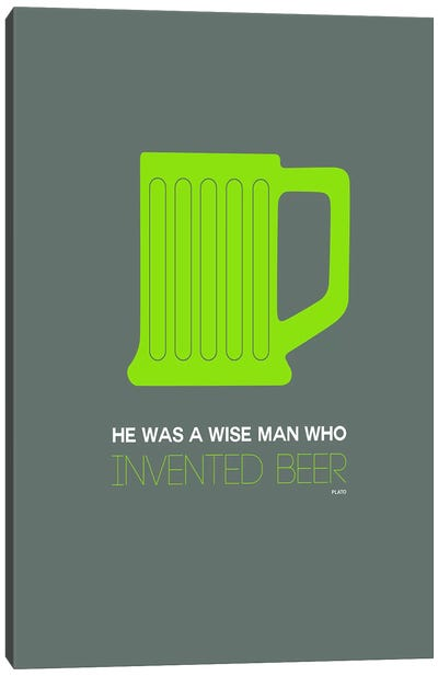 Plato's Take On Beer III Canvas Art Print