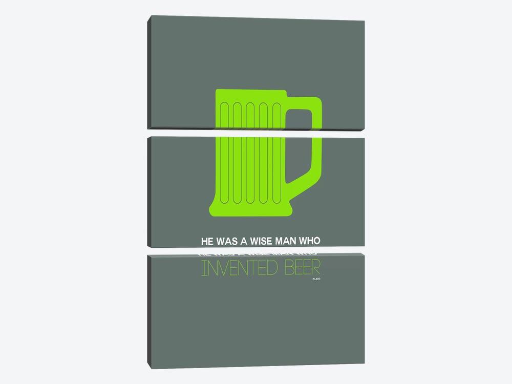Plato's Take On Beer III by Naxart 3-piece Art Print
