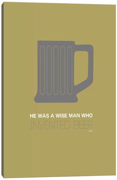 Plato's Take On Beer IV Canvas Print #NAX447