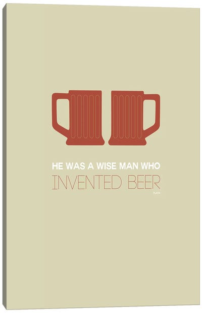 Plato's Take On Beer V Canvas Art Print