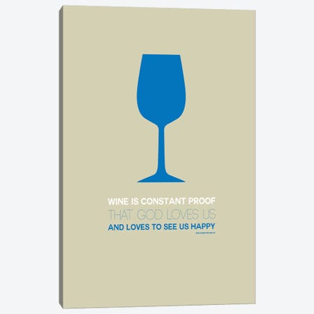 Benjamin Franklin's Take On Wine I Canvas Print #NAX452} by Naxart Canvas Art