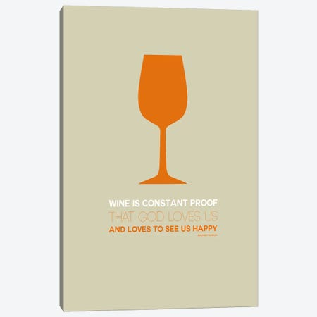 Benjamin Franklin's Take On Wine II Canvas Print #NAX453} by Naxart Canvas Art