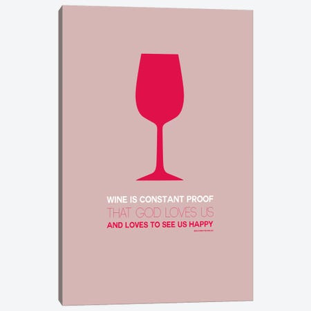 Benjamin Franklin's Take On Wine III Canvas Print #NAX454} by Naxart Canvas Print