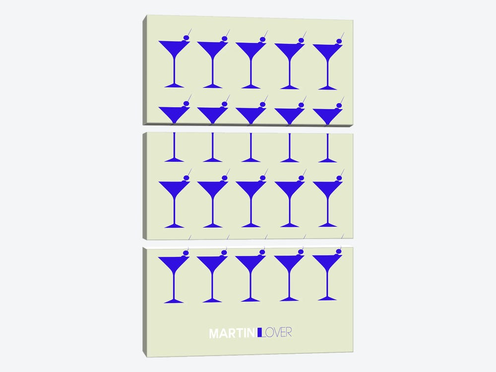Martini Lover I by Naxart 3-piece Art Print
