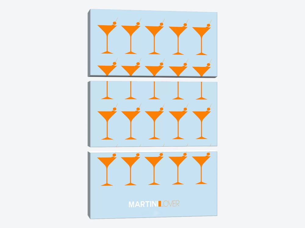 Martini Lover II by Naxart 3-piece Canvas Wall Art