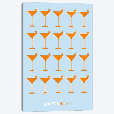 Martini Lover II Canvas Print #NAX456} by Naxart Canvas Art Print