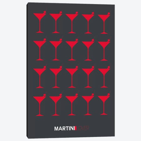 Martini Lover IV Canvas Print #NAX458} by Naxart Canvas Art