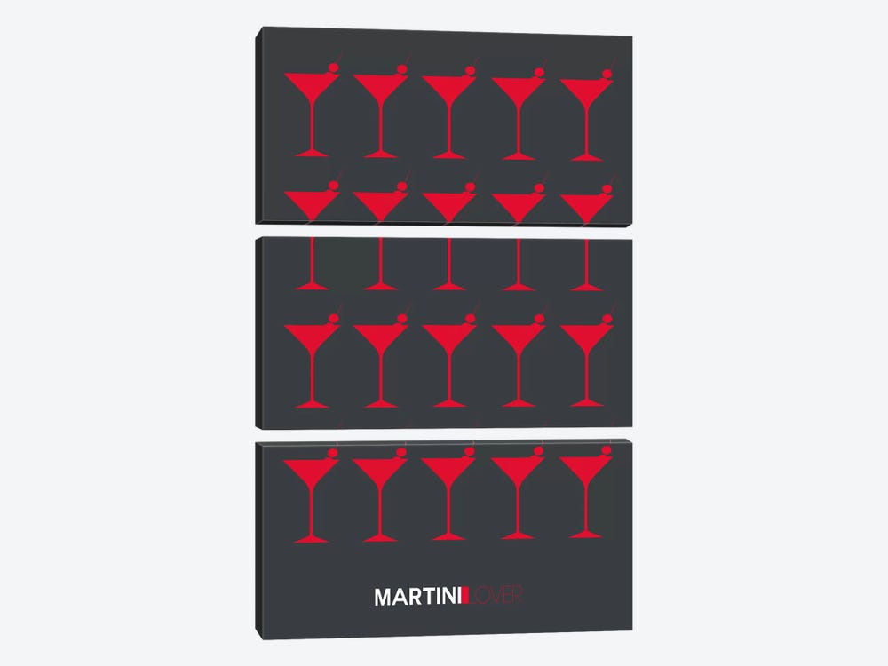 Martini Lover IV by Naxart 3-piece Canvas Wall Art