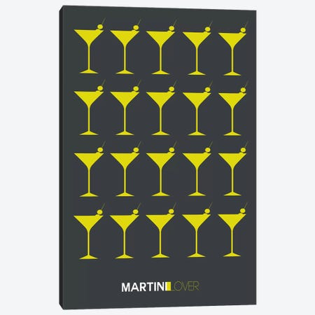 Martini Lover V Canvas Print #NAX459} by Naxart Canvas Art