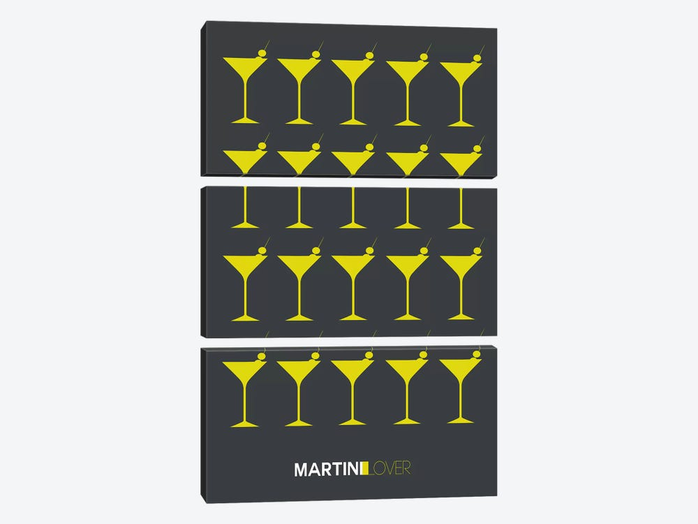 Martini Lover V by Naxart 3-piece Art Print
