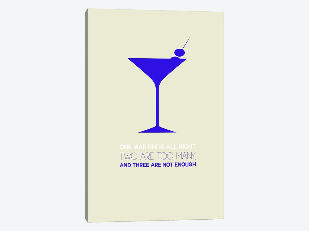 Not Enough, Martini Style I by Naxart 1-piece Art Print