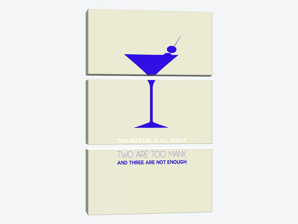 Not Enough, Martini Style I by Naxart 3-piece Canvas Art Print