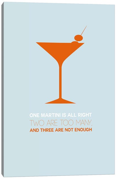 Not Enough, Martini Style II Canvas Art Print