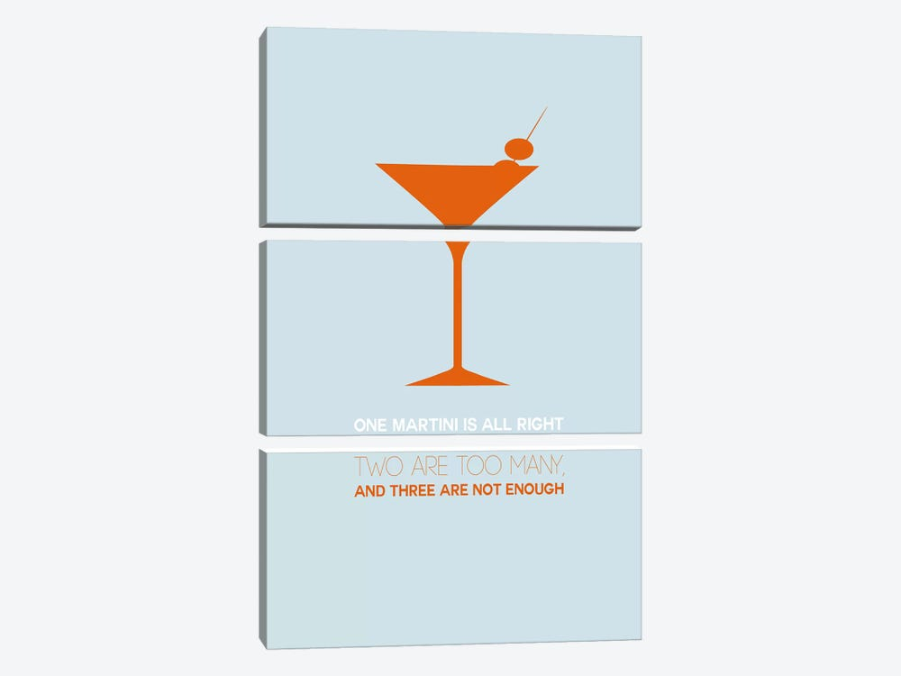 Not Enough, Martini Style II by Naxart 3-piece Canvas Art