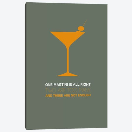 Not Enough, Martini Style III Canvas Print #NAX462} by Naxart Art Print