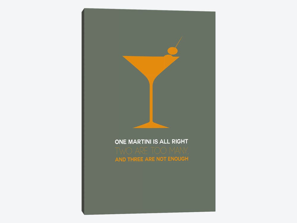 Not Enough, Martini Style III by Naxart 1-piece Art Print