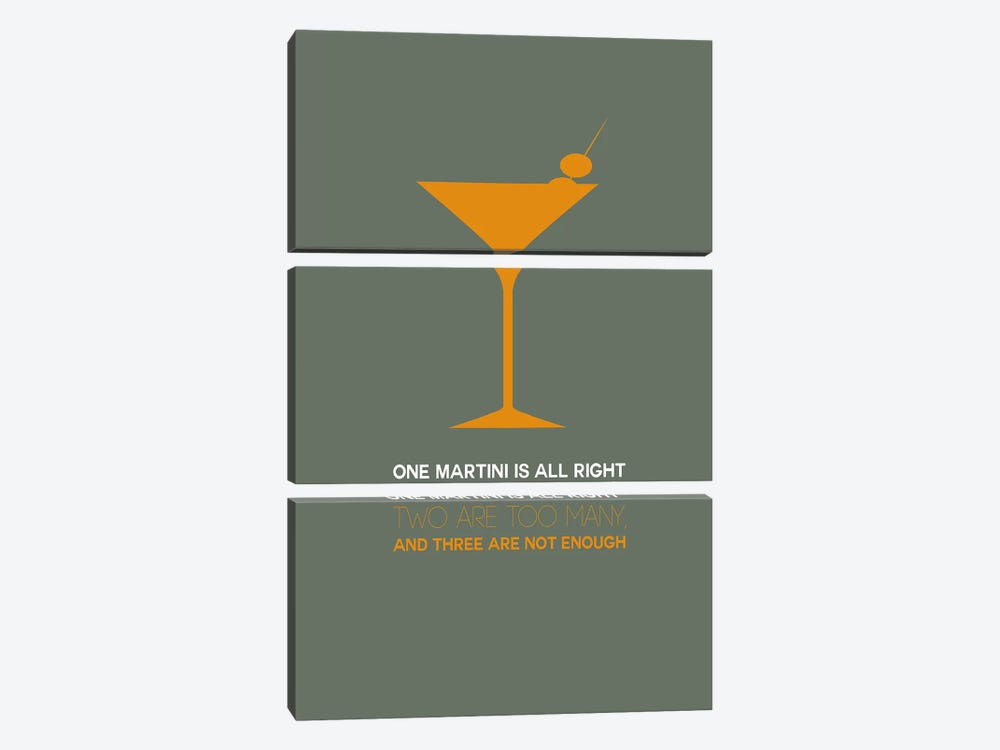 Not Enough, Martini Style III by Naxart 3-piece Art Print