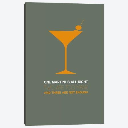 Not Enough, Martini Style III Canvas Print #NAX462} by Naxart Art Print