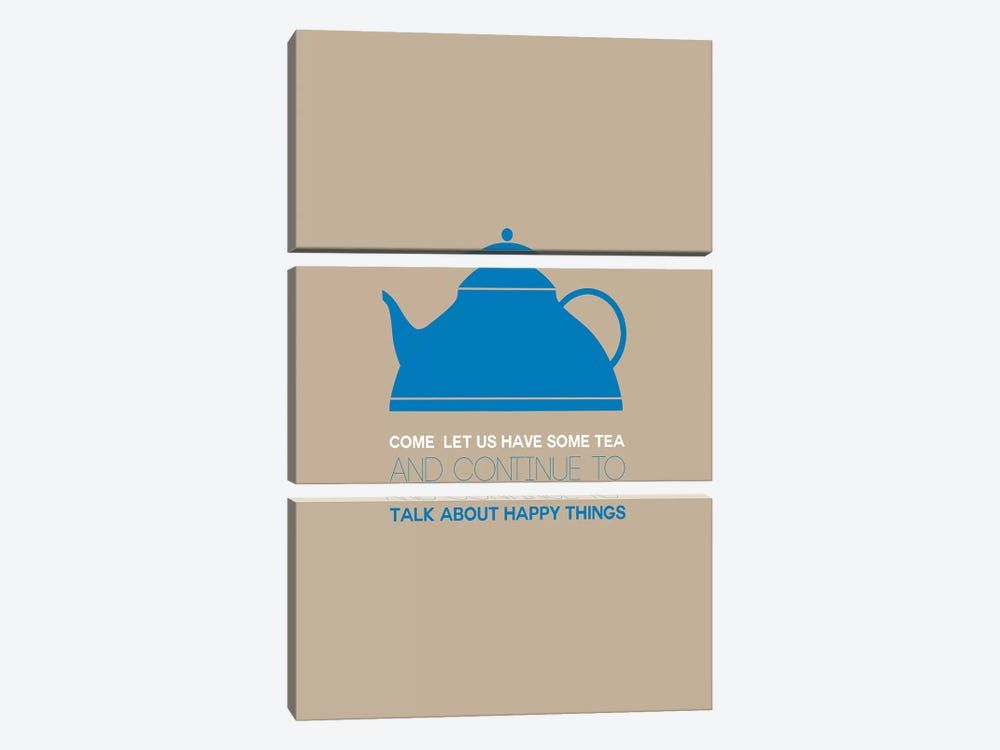 Have Some Tea by Naxart 3-piece Canvas Print